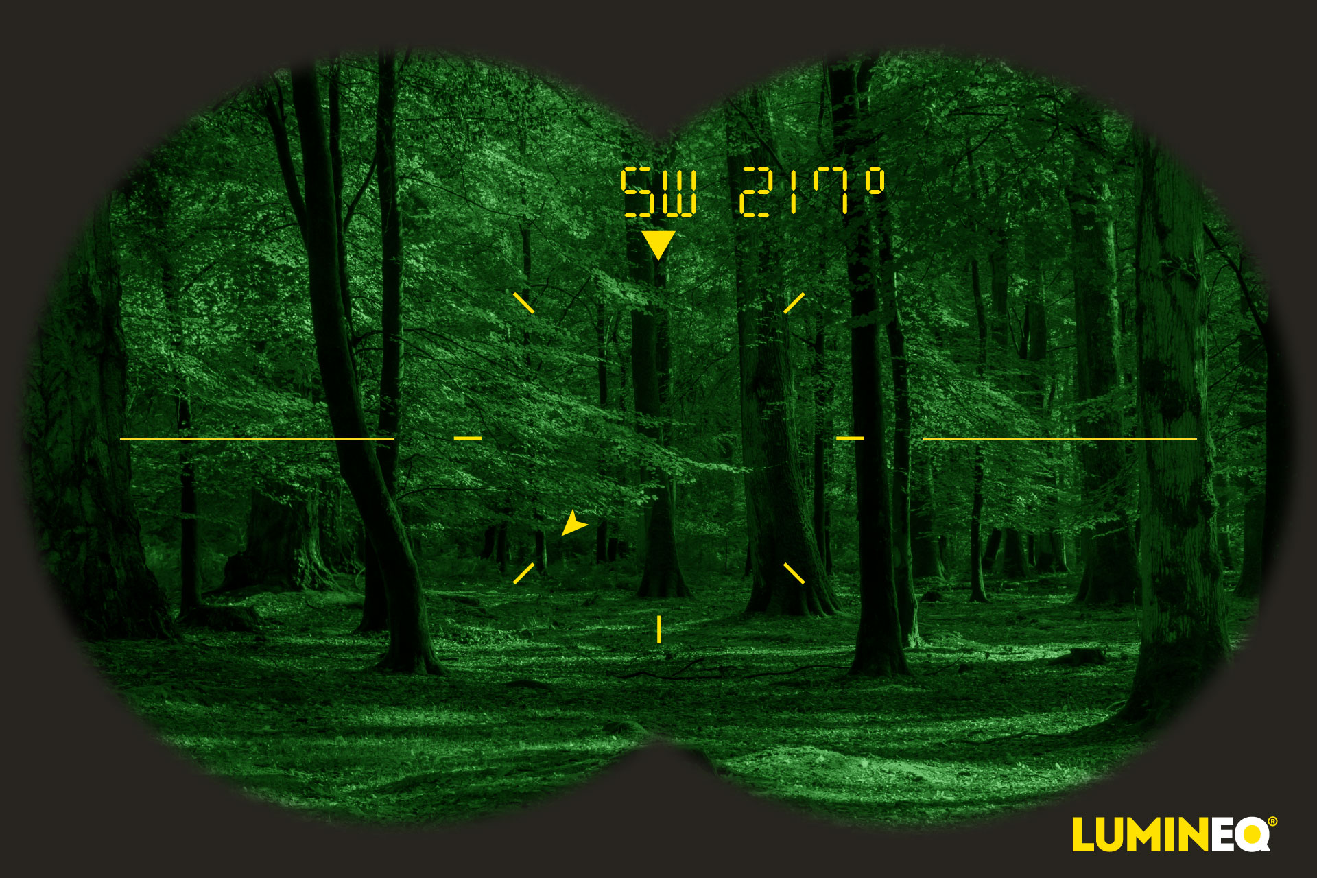 LUMINEQ displays at line of sight for Night Vision Devices