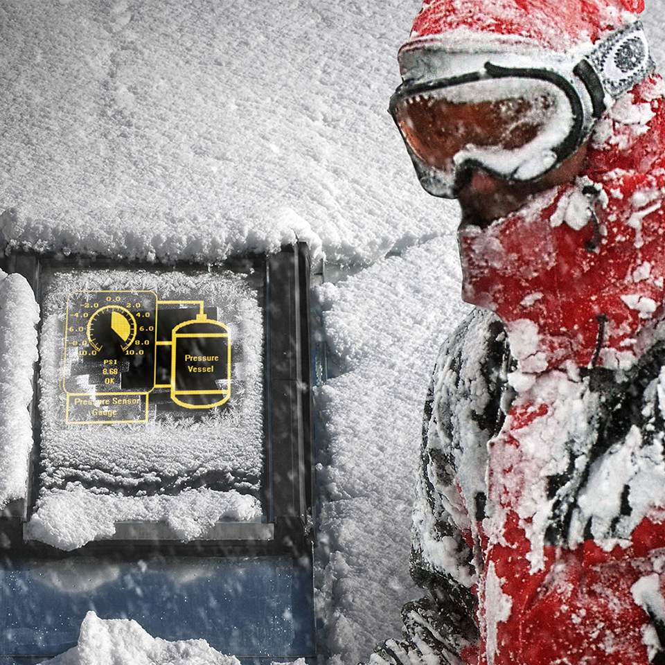 rugged display in cold